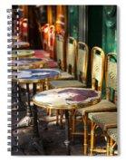 Montmartre Cafe Spiral Notebook