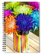 Multicolored Chrysanthemums  Spiral Notebook