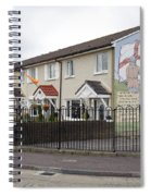 Mural In Shankill, Belfast, Ireland Spiral Notebook