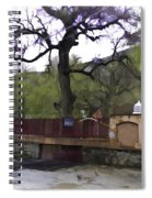 Near Entrance To Hindu Temple Of Mattan Spiral Notebook