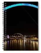 Newcastle Quayside And Sage Gateshead Spiral Notebook