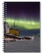 northern Lights iceland Spiral Notebook