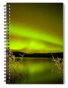 Northern Lights Mirrored On Lake Spiral Notebook