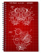 Optical Refractor Patent 1985 - Red Spiral Notebook