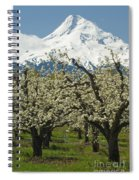Orchard And Mount Hood, Oregon Spiral Notebook