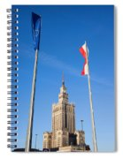 Palace Of Culture And Science In Warsaw Spiral Notebook