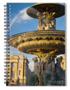Paris Fountain Spiral Notebook