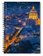 Paris Overhead Spiral Notebook