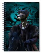 Peruvian Hairless Dog Art Canvas Print Spiral Notebook