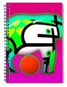 Pink Elephant Spiral Notebook