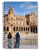 Plaza De Espana Pavilion In Seville Spiral Notebook