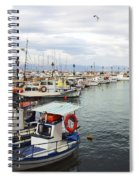 Port Of Aegina Spiral Notebook