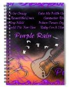 Purple Rain Spiral Notebook