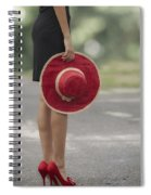 Red Sun Hat Spiral Notebook