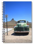 Route 66 - Old Green Chevy Spiral Notebook
