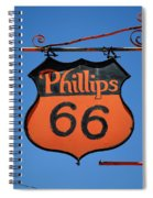 Route 66 - Phillips 66 Petroleum Spiral Notebook