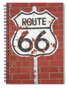 Route 66 Shield Spiral Notebook