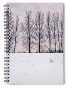 Rural Winter Landscape Spiral Notebook