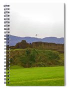Saltire And The Ruins Of The Urquhart Castle Spiral Notebook