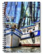 Shrimp Boats Season Spiral Notebook