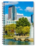 Skyline Of A Modern City - Charlotte North Carolina Usa Spiral Notebook