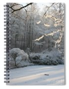 Snowy Trees Landscape Spiral Notebook