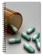 Spilled Medication Spiral Notebook