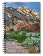 Spring Storm Over Split Mountain Dinosaur National Monument Spiral Notebook