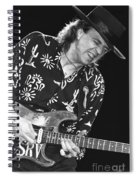 Guitarist Stevie Ray Vaughan Spiral Notebook