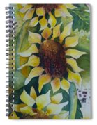 3 Sunflowers Spiral Notebook