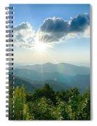 Sunrise Over Blue Ridge Mountains Scenic Overlook  Spiral Notebook