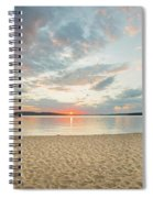 Sunset On South Bay, Lake Superior Spiral Notebook