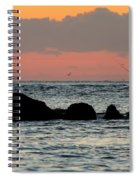 Sunset On The Beach Spiral Notebook