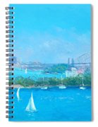 Sydney Harbour And The Opera House By Jan Matson Spiral Notebook