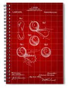Tennis Ball Patent 1914 - Red Spiral Notebook