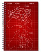 Thumb Wrestling Game Patent 1991 - Red Spiral Notebook