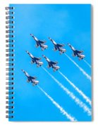 Thunderbirds And Blue Sky  Spiral Notebook