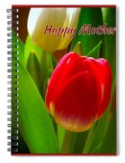 3 Tulips For Mother's Day Spiral Notebook
