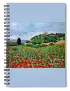 Tuscan Poppies Spiral Notebook