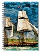 Us Brig Niagra  Spiral Notebook