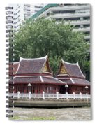 View From Chao Phraya River In Bangkok Spiral Notebook