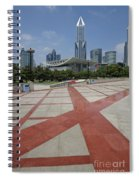 View From Peoples Park, Shanghai Spiral Notebook