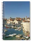 View Of Dubrovnik In Croatia Spiral Notebook
