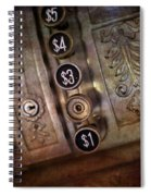 Vintage Metal Cash Register Spiral Notebook
