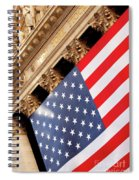 Wall Street Flag Spiral Notebook