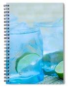 Water In Blue Spiral Notebook