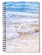 Waves Breaking On Tropical Shore Spiral Notebook