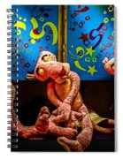 3 Wet Pink Panthers Spiral Notebook