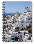 Windmills And White Houses In Oia Spiral Notebook