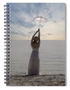 Woman At The Beach Spiral Notebook